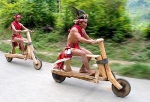 wooden bikes